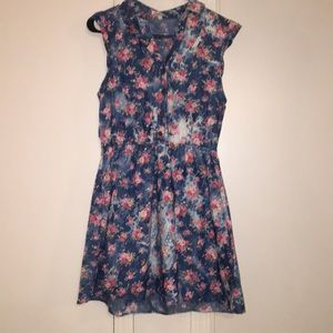 Charlotte Russe chambray floral dress